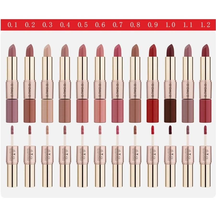 Matte Lipstick Pen & Liquid Suede Lipstick 2 in 1 - Color 0.5 Double Dare-2