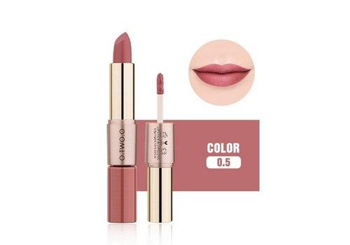 Matte Lipstick Pen & Liquid Suede Lipstick 2 in 1 - Color 0.5 Double Dare