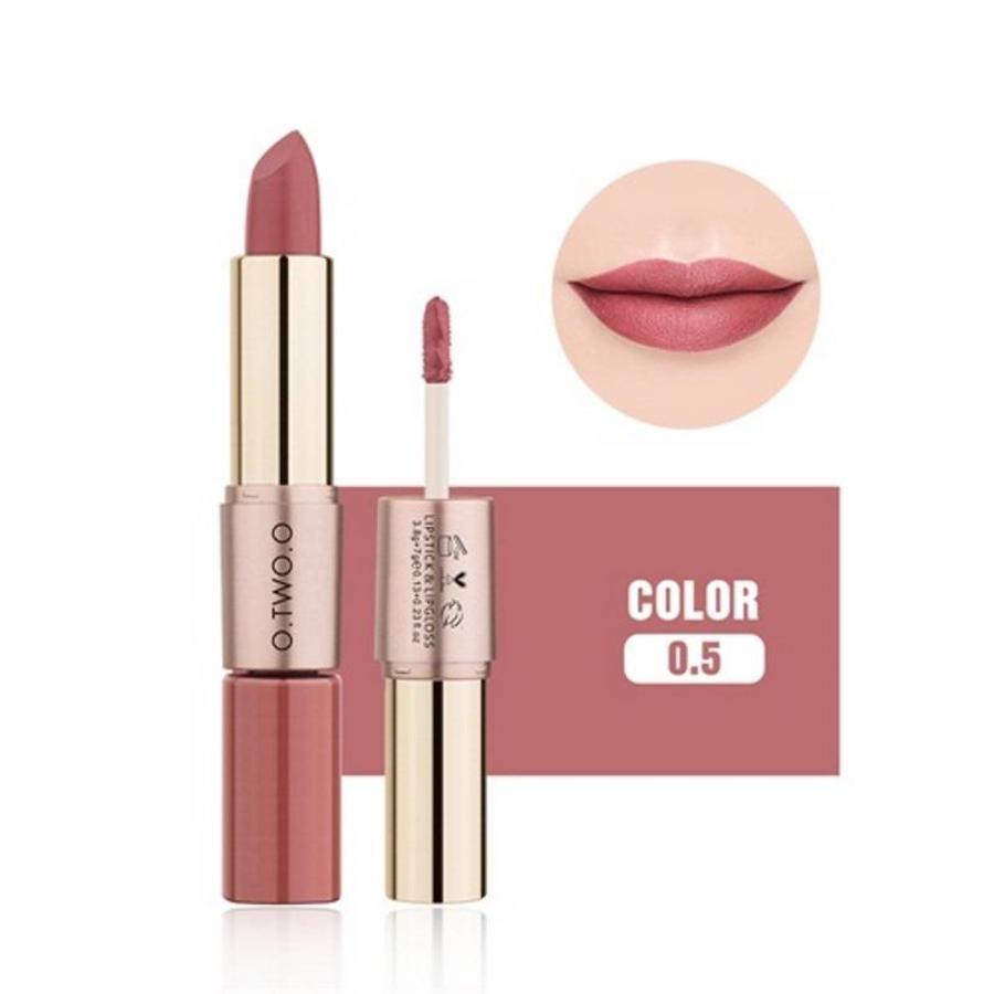 Matte Lipstick Pen & Liquid Suede Lipstick 2 in 1 - Color 0.5 Double Dare-1
