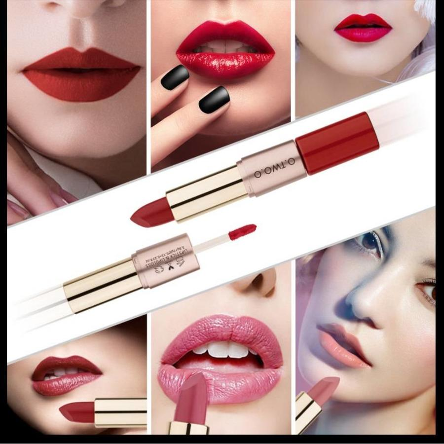Matte Lipstick Pen & Liquid Suede Lipstick 2 in 1 - Color 0.9 Outlaw-3