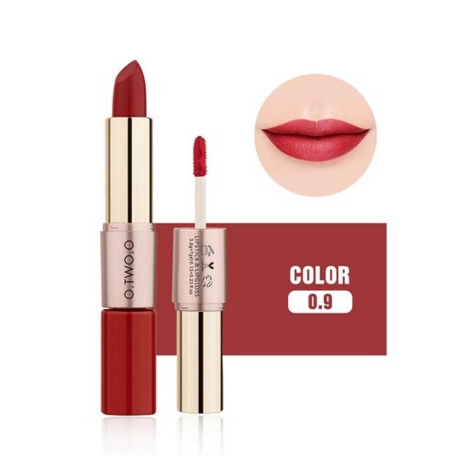 Matte Lipstick Pen & Liquid Suede Lipstick 2 in 1 - Color 0.9 Outlaw-1