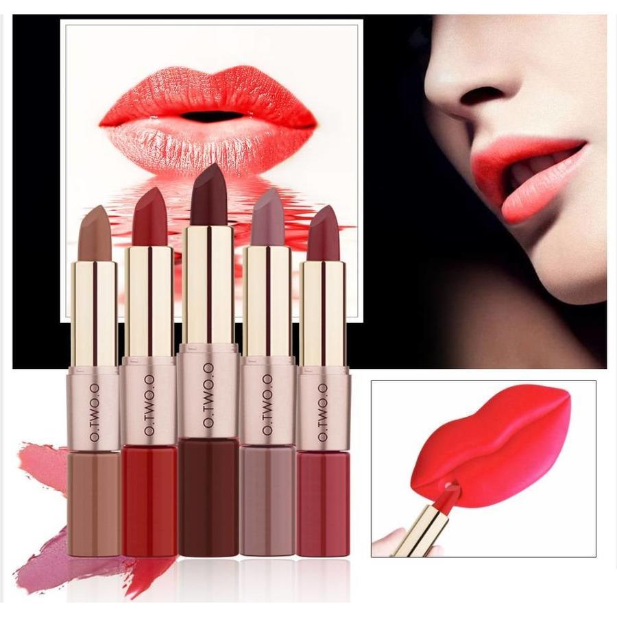 Matte Lipstick Pen & Liquid Suede Lipstick 2 in 1 - Color 1.0 Vampira-5