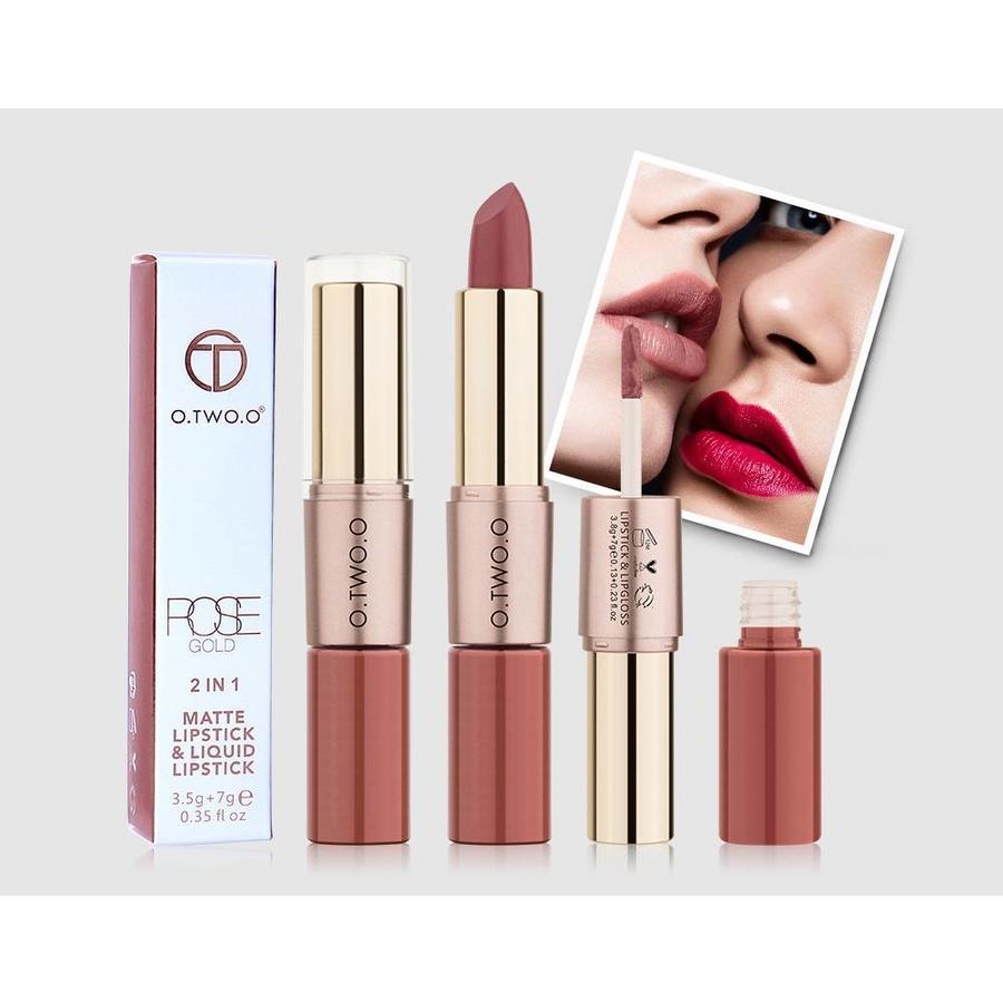 Matte Lipstick Pen & Liquid Suede Lipstick 2 in 1 - Color 1.0 Vampira-4