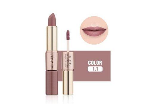 Matte Lipstick Pen & Liquid Suede Lipstick 2 in 1 - Color 1.1 Requiem