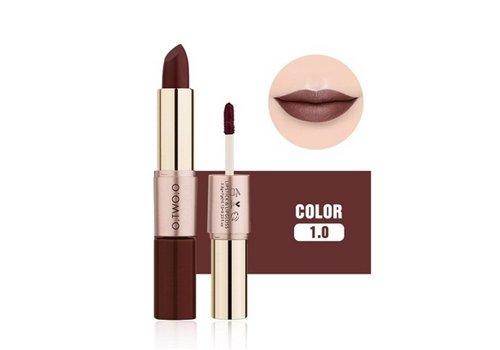 Matte Lipstick Pen & Liquid Suede Lipstick 2 in 1 - Color 1.0 Vampira