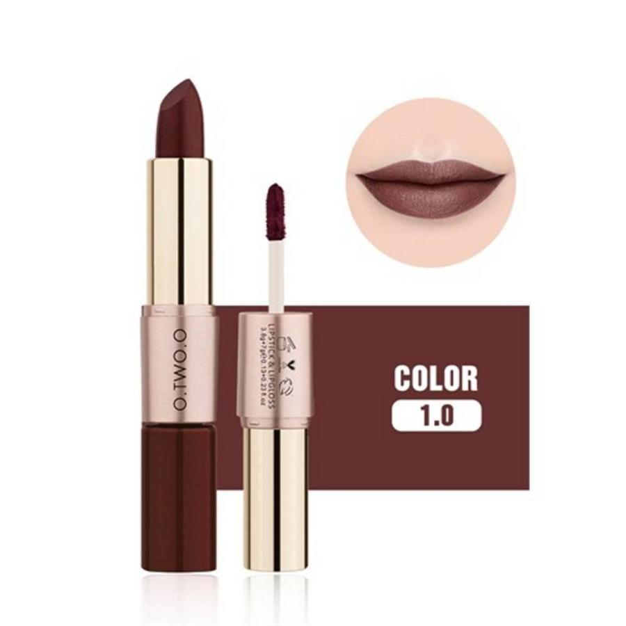 Matte Lipstick Pen & Liquid Suede Lipstick 2 in 1 - Color 1.0 Vampira-1