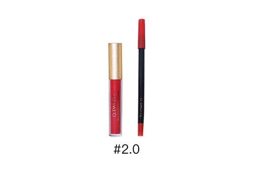 Matte Lipgloss Kit Met Lipliner - Color 2.0 Fire Brick