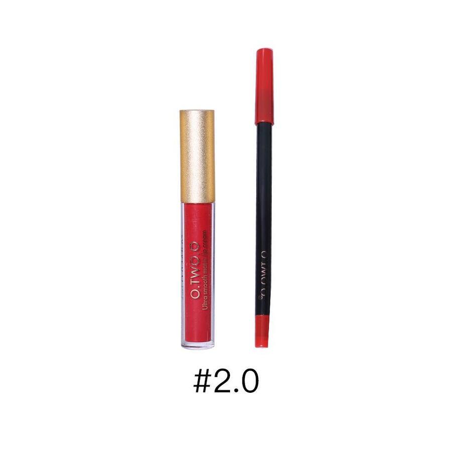Matte Lipgloss Kit Met Lipliner - Color 2.0 Fire Brick-1