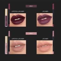 thumb-Matte Lipgloss Kit Met Lipliner - Color 4.0 Red Brown-7