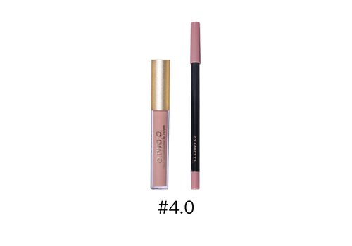 Matte Lipgloss Kit Met Lipliner - Color 4.0 Red Brown