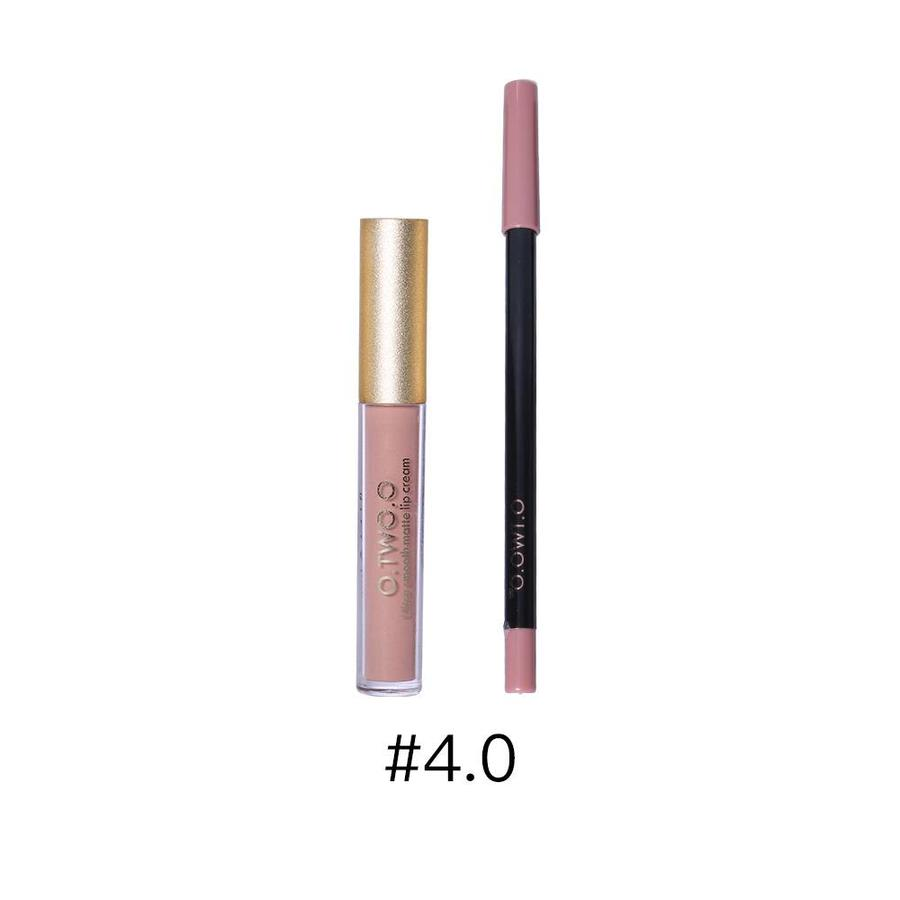 Matte Lipgloss Kit Met Lipliner - Color 4.0 Red Brown-1