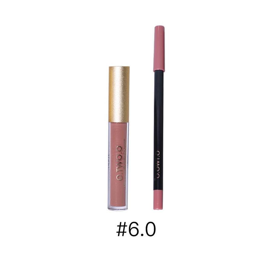 Matte Lipgloss Kit Met Lipliner - Color 6.0 Deep Bean Paste-1
