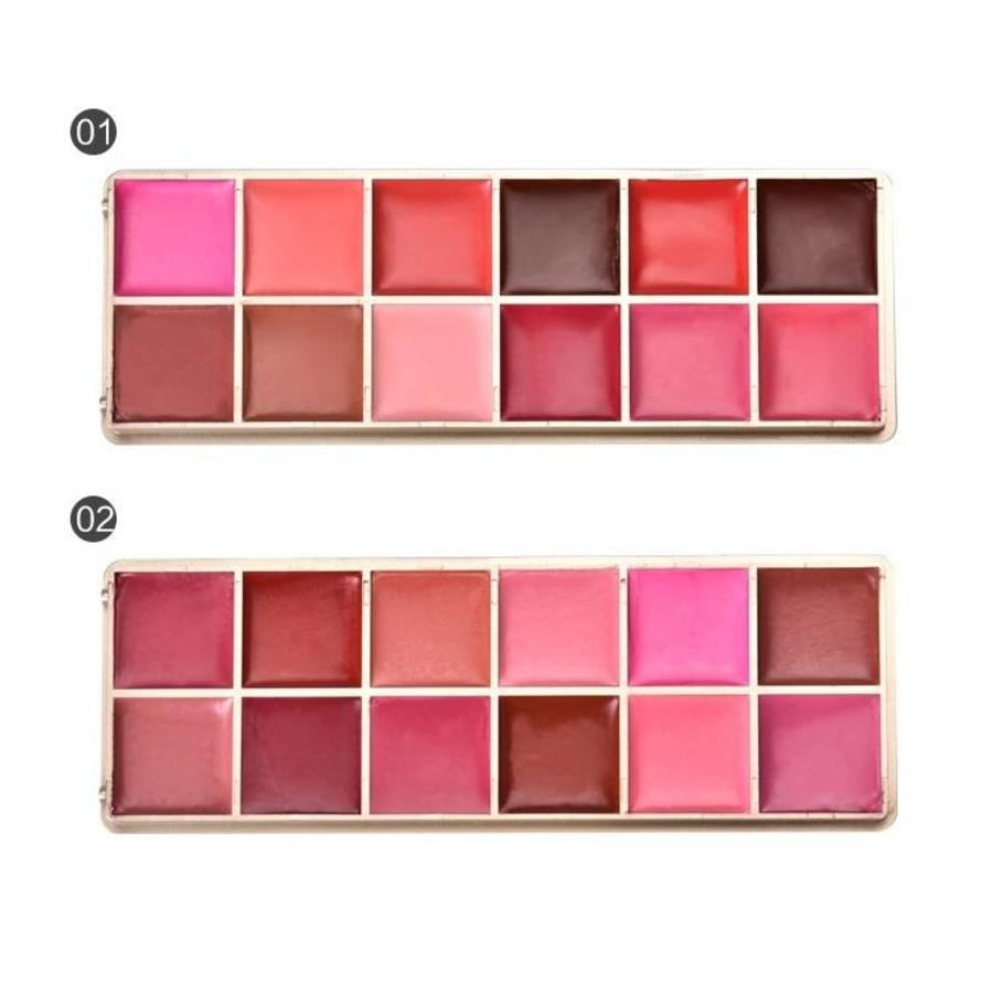 Watershine Lipstick Palette - 12 Colors #01-2