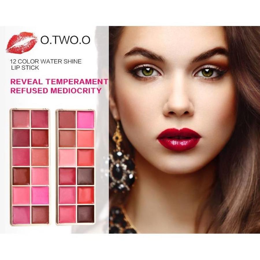 Watershine Lipstick Palette - 12 Colors #01-3