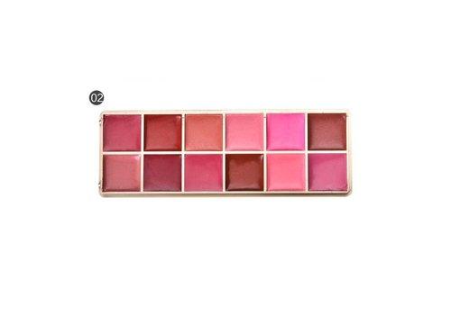 Watershine Lipstick Palette - 12 Colors #02