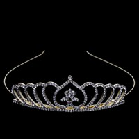thumb-Chique Goudkleurige Tiara / Kroon Heart-2