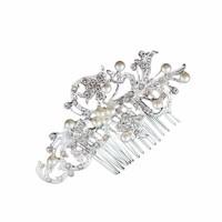 thumb-Stijlvolle Haarkam met Diamanten en Parels-5