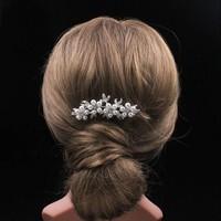 thumb-SALE - Hairpin - Bloemen met Ivoorkleurige Parels-7