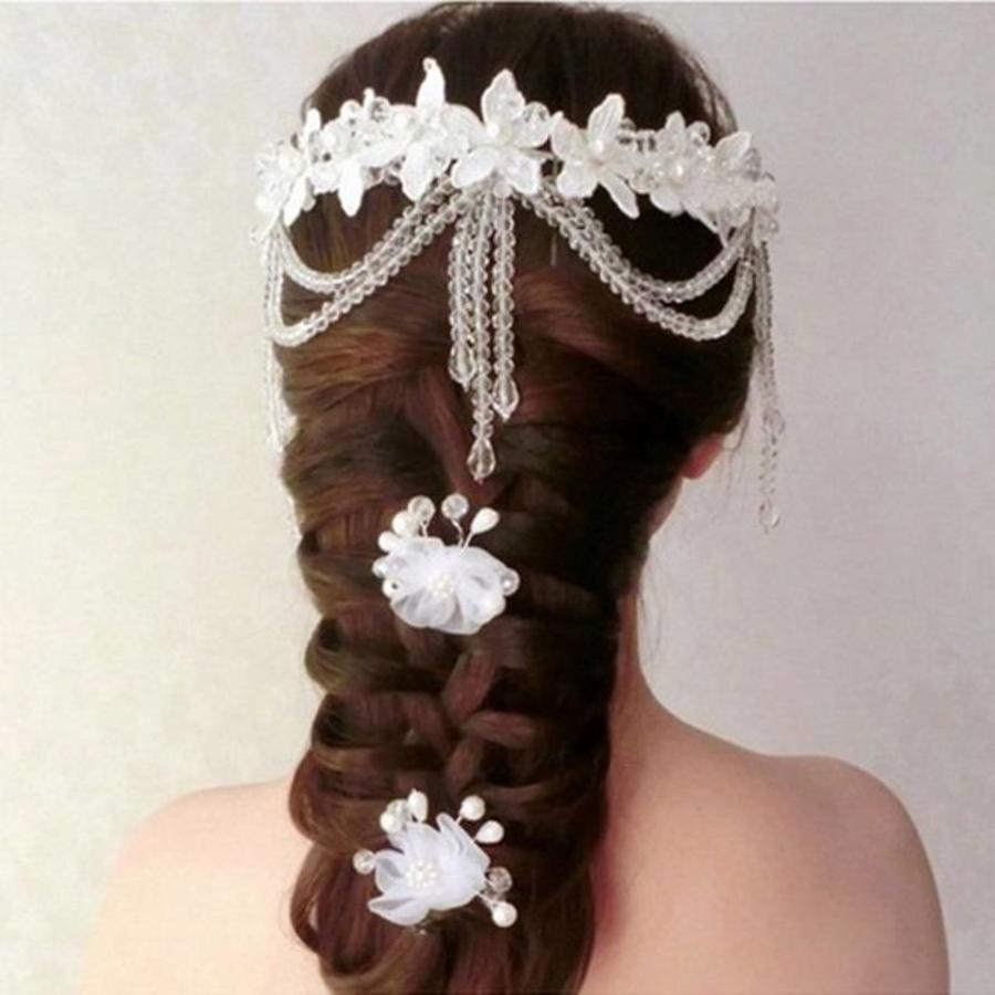 SALE - Hairpin - Elegance Flowers Strass & Pearls - 5 Stuks-3