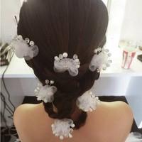 thumb-SALE - Hairpin - Elegance Flowers Strass & Pearls - 5 Stuks-5