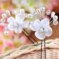 thumb-SALE - Hairpin - Elegance Flowers Strass & Pearls - 5 Stuks-6