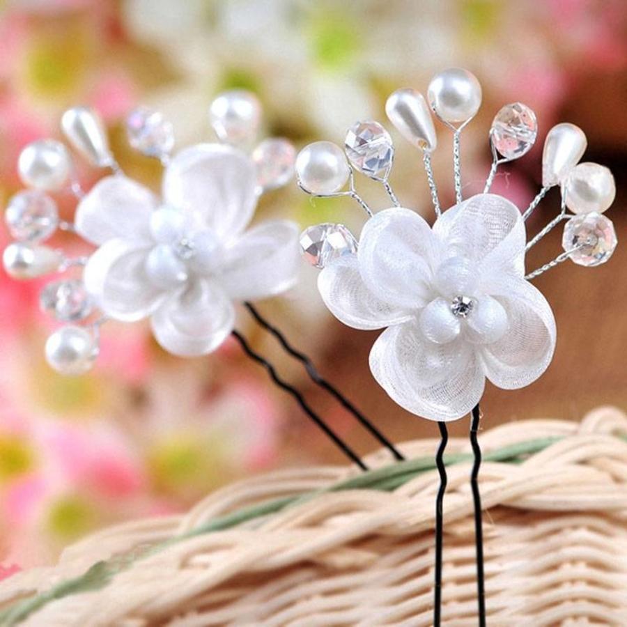 SALE - Hairpin - Elegance Flowers Strass & Pearls - 5 Stuks-6