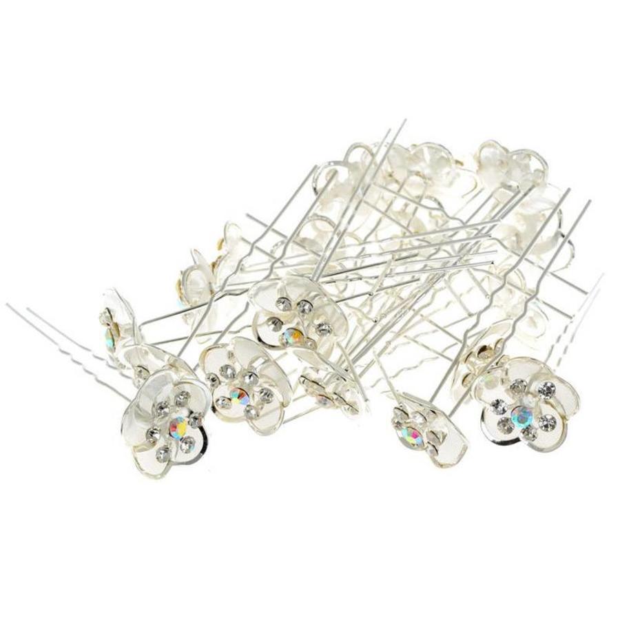 Hairpin - Zilverkleurig met Strass Kristallen-6