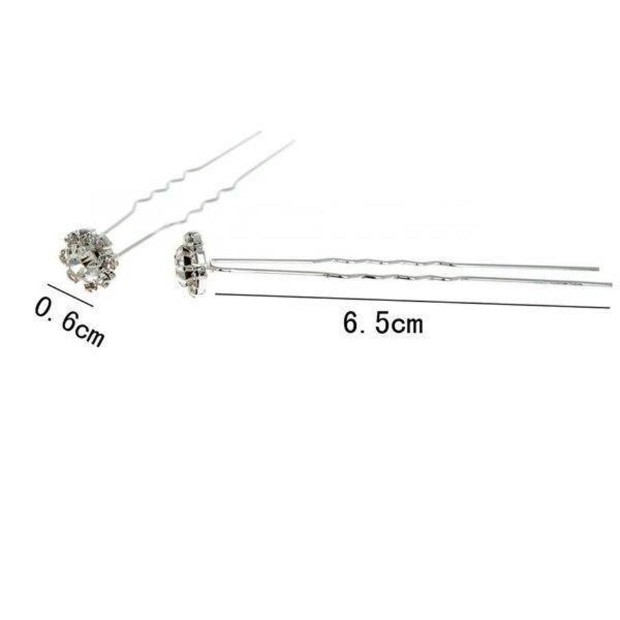 PaCaZa - Hairpin - Fonkelende Bloem Met Strass - 5 Stuks-4