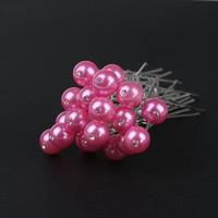 thumb-PaCaZa - Hairpin - Parel met Diamantje Roze - 5 Stuks-2