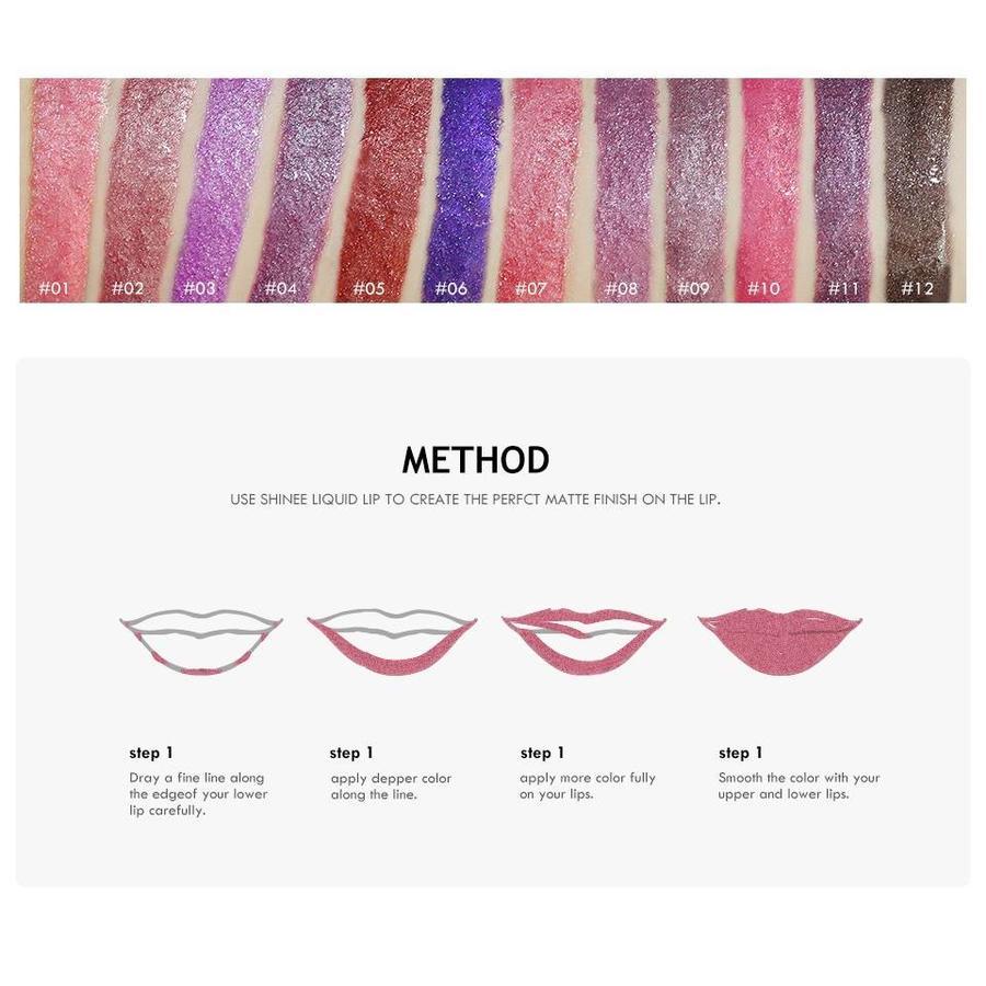 High Shimmer Liquid Lip Gloss- Color 08-3