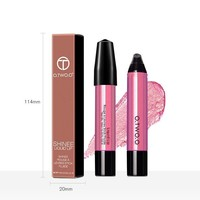 thumb-High Shimmer Liquid Lip Gloss- Color 12-6