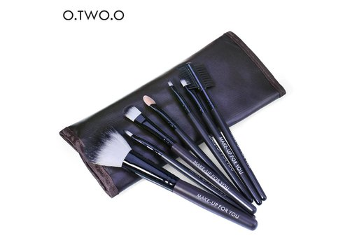 Make-up Brush Set Professional - 7 stuks -  Inclusief Tasje