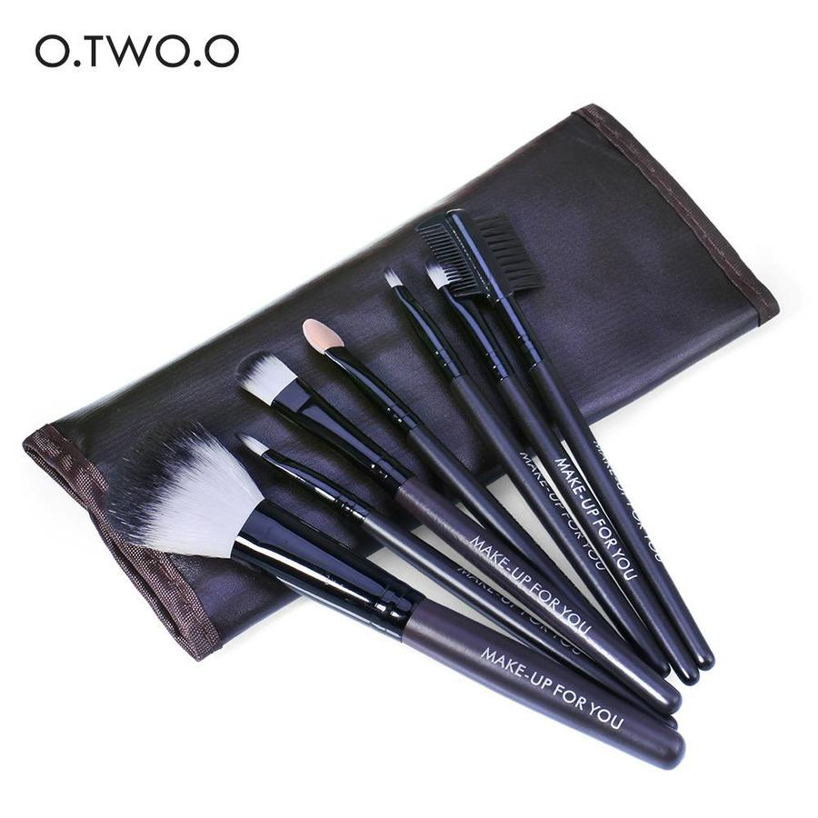 Make-up Brush Set Professional - 7 stuks -  Inclusief Tasje-1