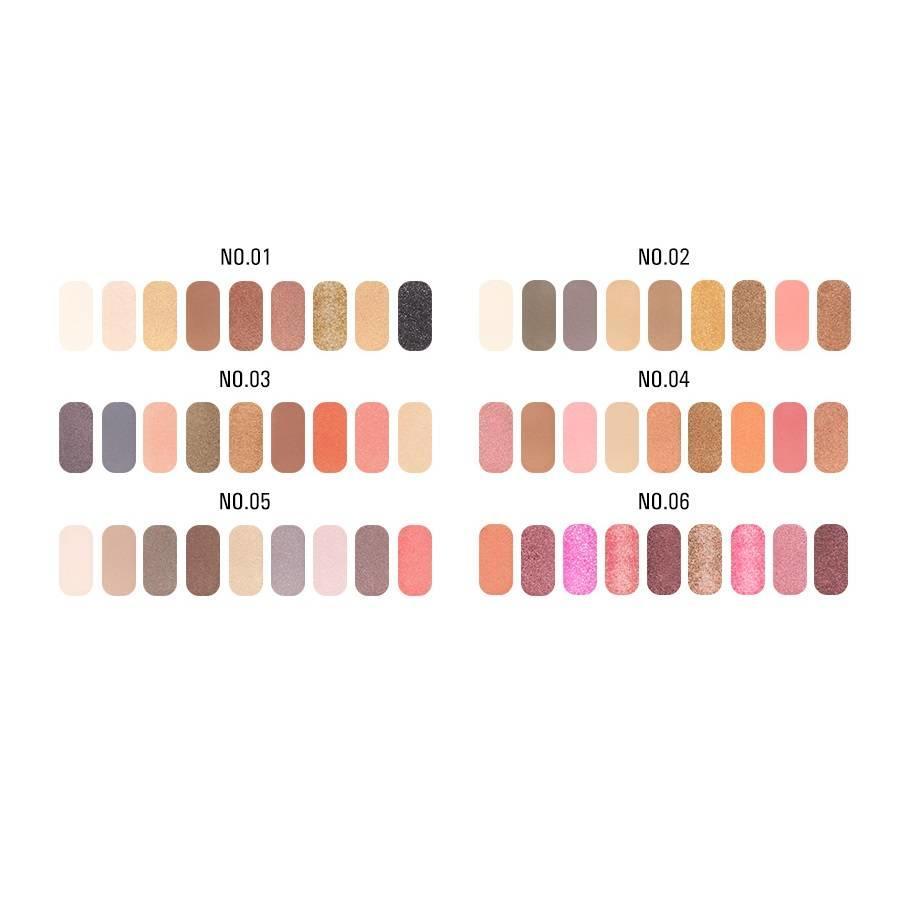 Palette Oogschaduw Make-Up Set 9 kleuren - Color 01-2