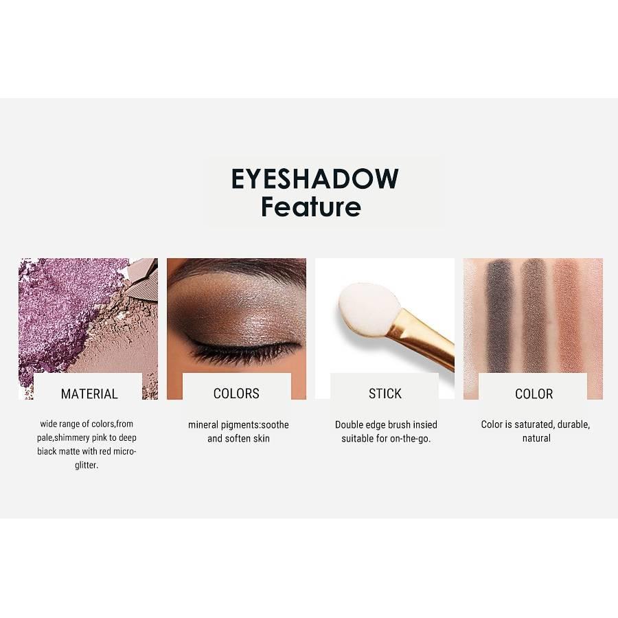 Palette Oogschaduw Make-Up Set 9 kleuren - Color 02-6