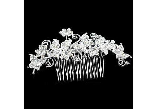 Haarkam bezet met fonkelende kristallen