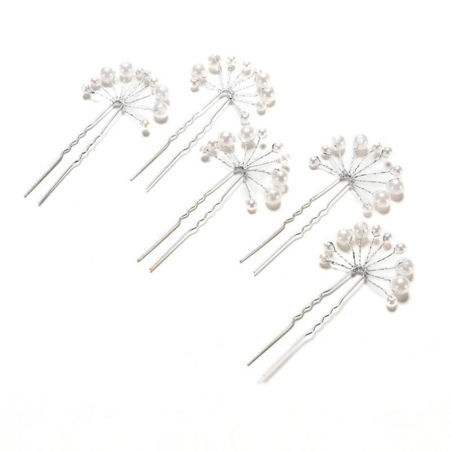 Hairpins – Parelmoer kleurige Parels - 2 stuks-6