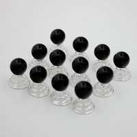 PaCaZa - Parel Curlies - Zwart - 6 stuks