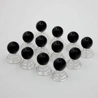 Parel Curlies - Zwart - 6 stuks