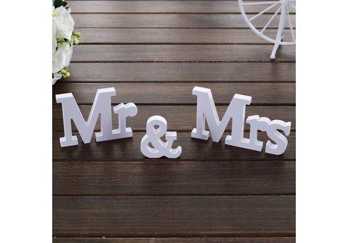 Mr & Mrs Letters - Bruiloft Decoratie