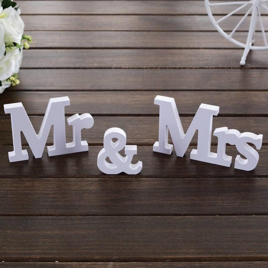 Mr & Mrs Letters - Bruiloft Decoratie-1