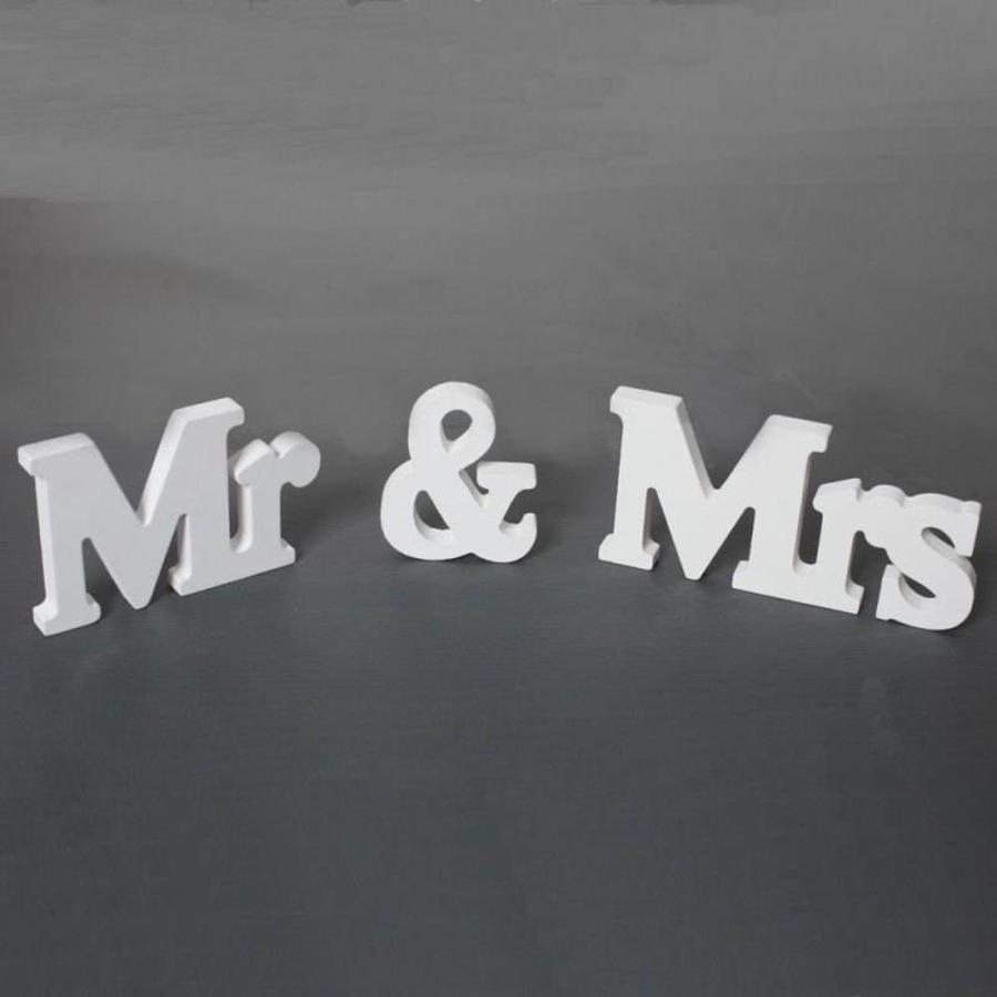 Mr & Mrs Letters - Bruiloft Decoratie-2