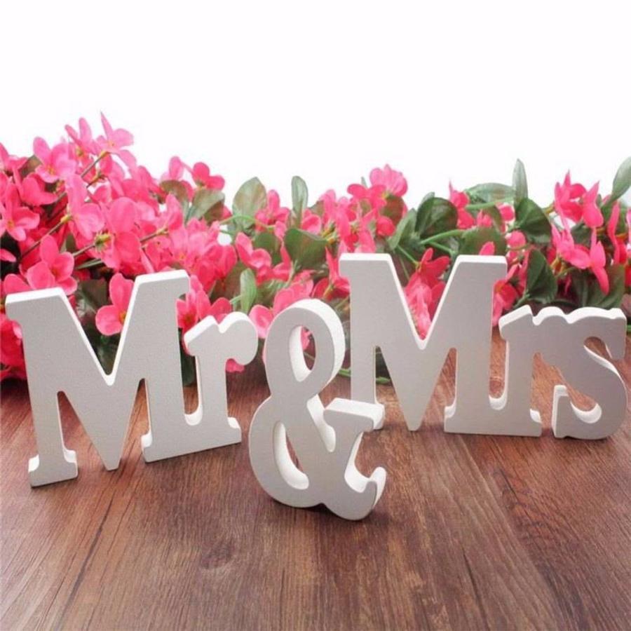 Mr & Mrs Letters - Bruiloft Decoratie-5