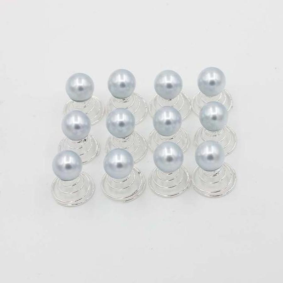 Parel Curlies - Licht Blauw / Grijs - 6 stuks-1