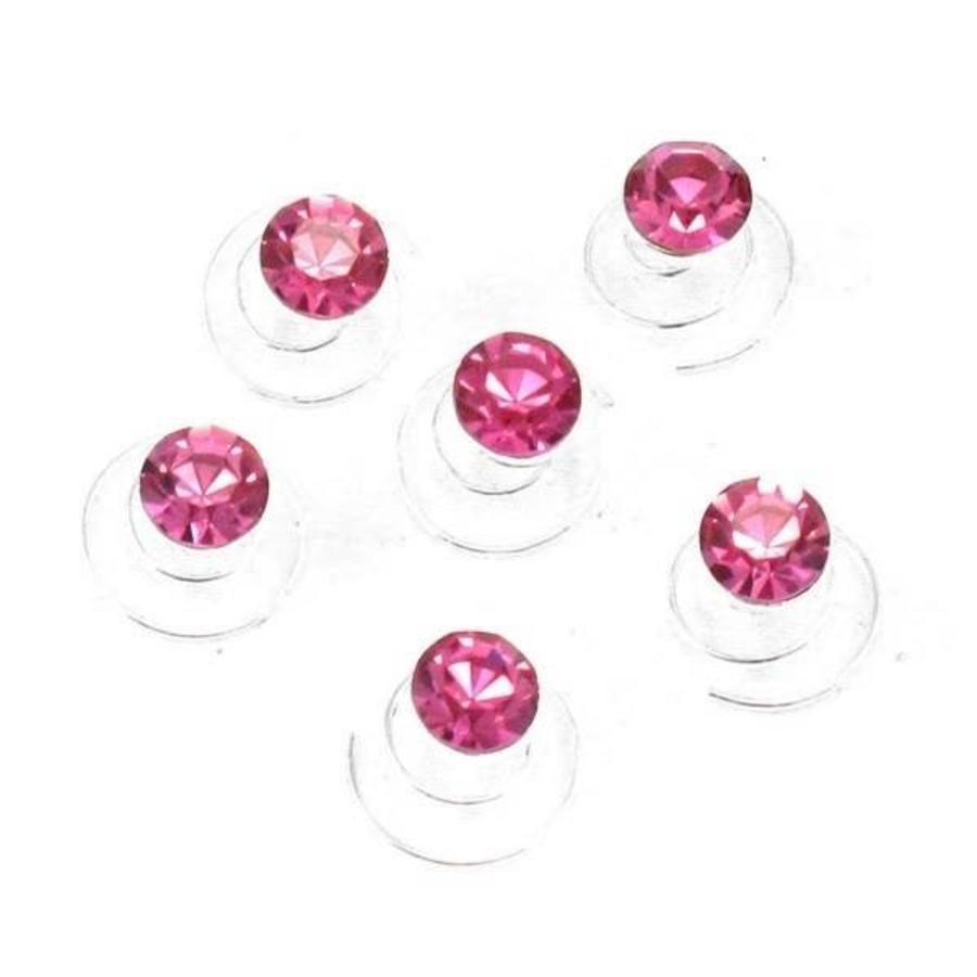 Roze Kristal Curlies - 6 stuks-2