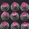 PaCaZa Roze Kristal Curlies - 6 stuks