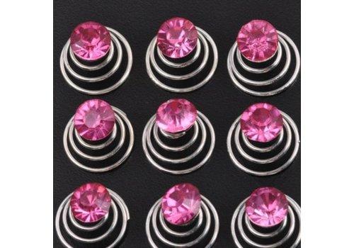 Roze Kristal Curlies - 6 stuks