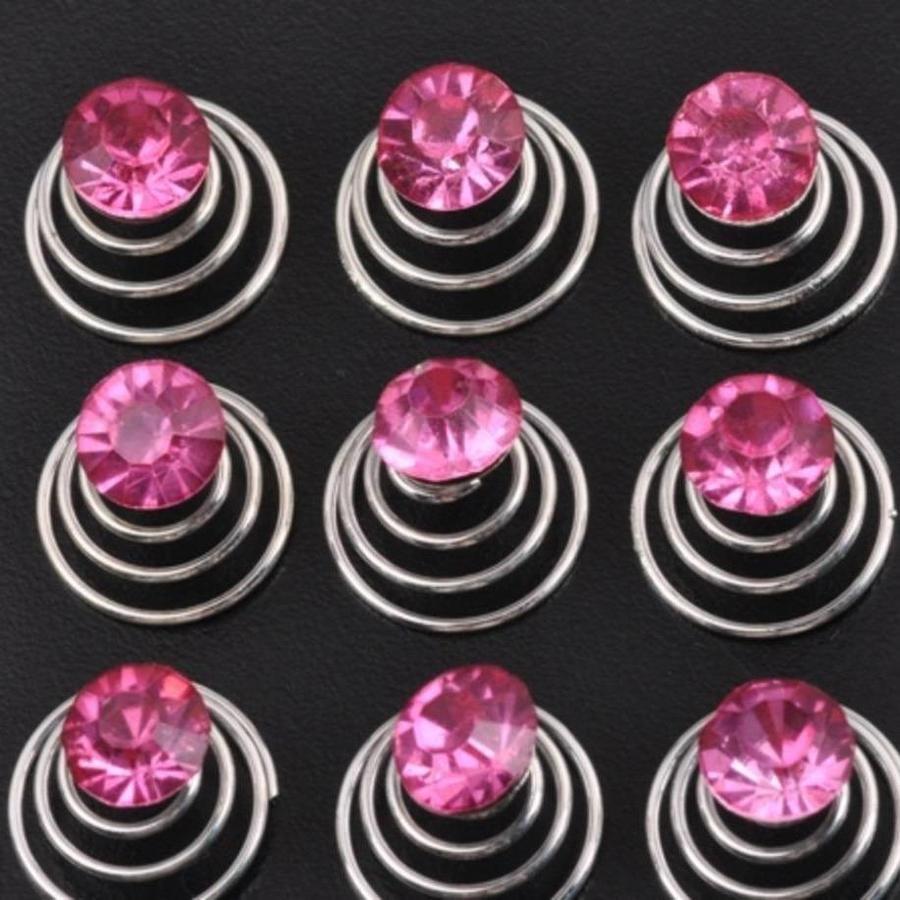 Roze Kristal Curlies - 6 stuks-1