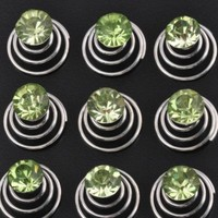 thumb-Groene Kristal Curlies - 6 stuks-1