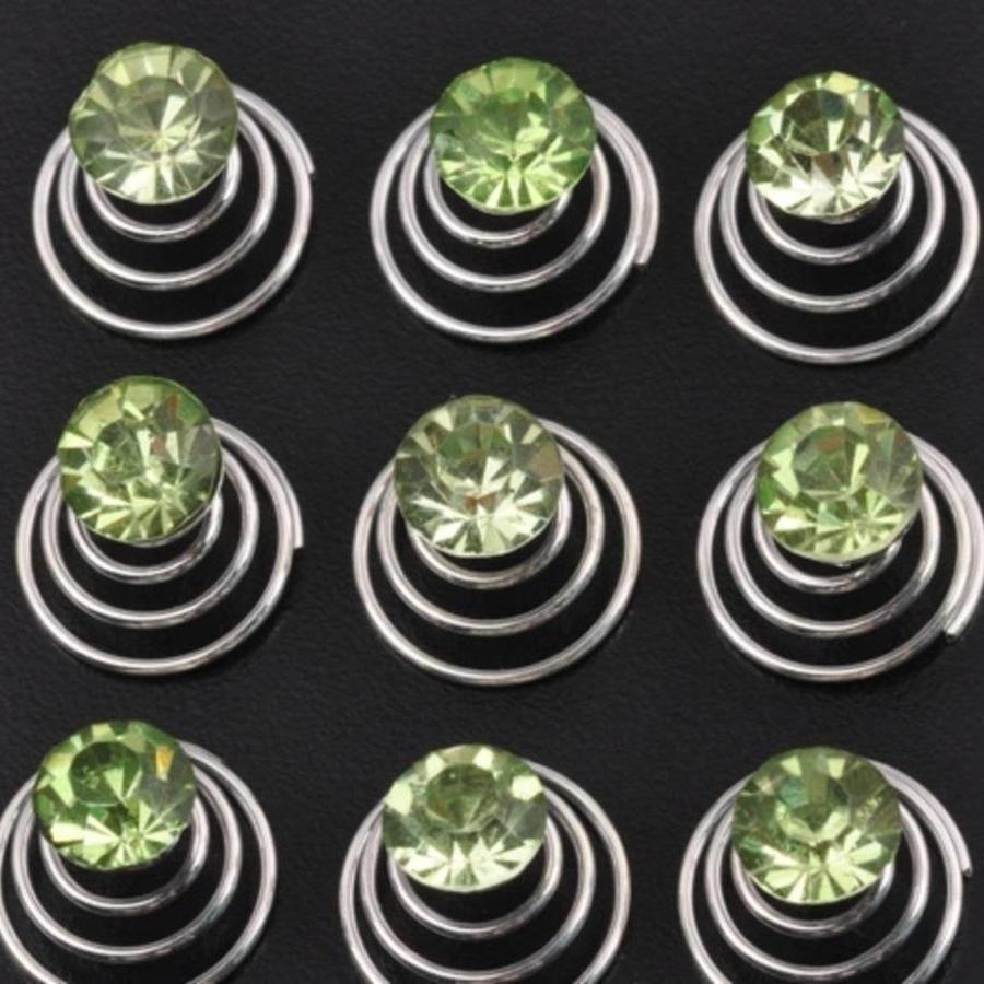 Groene Kristal Curlies - 6 stuks-1